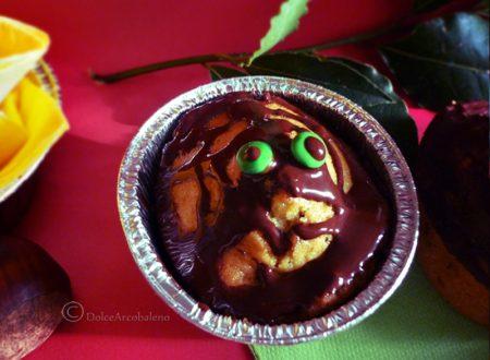 Muffin mostruosi per Halloween con le castagne