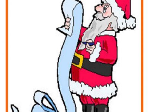 Bigliettino di Natale Lista Dei Regali