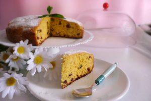 Torta soffice ai mirtilli pronta in un'ora