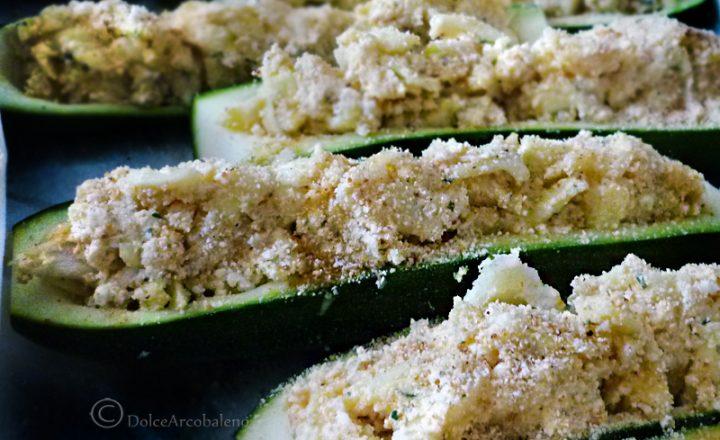 Zucchine ripiene al forno vegetariane