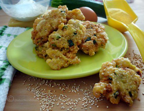 Frittelle zucchine quinoa e formaggio