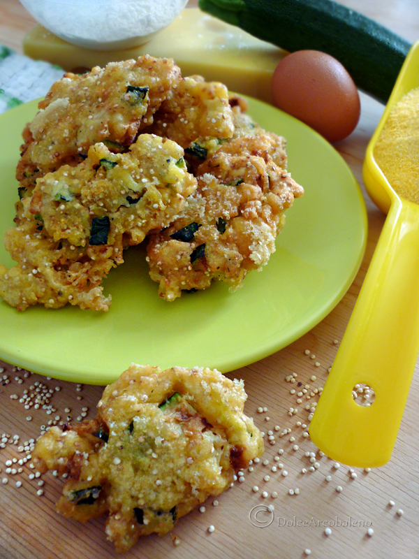 Frittelle zucchine quinoa e formaggio by Dolcearcobaleno