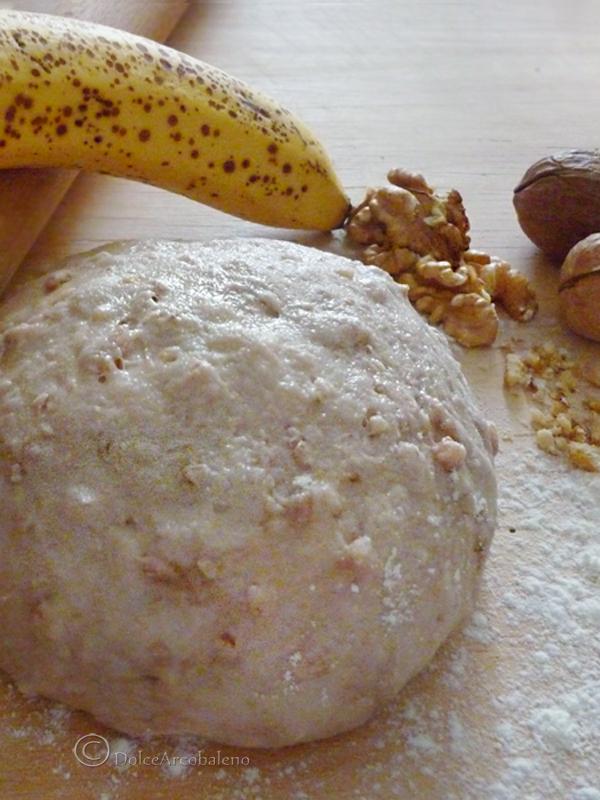 pasta frolla yogurt noci e banana