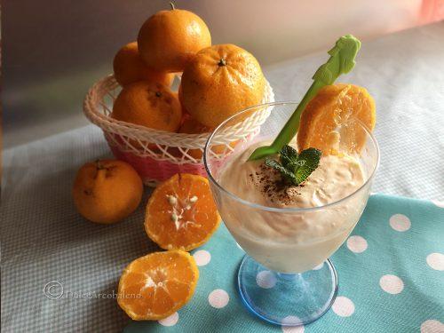 Gelato al mandarino senza gelatiera
