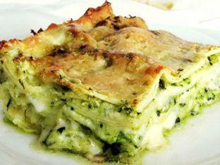 Lasagne besciamella e pesto di broccoli