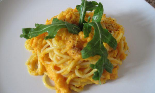 Spaghetti in crema di carote