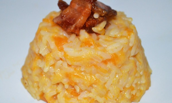 Rice with pumpkin and blue cheese