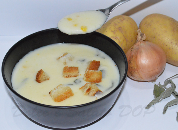 zuppa di patate e mais