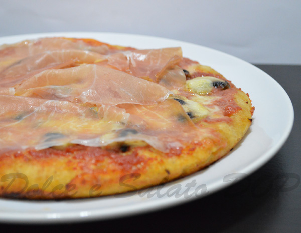 pizza funghi e culatello