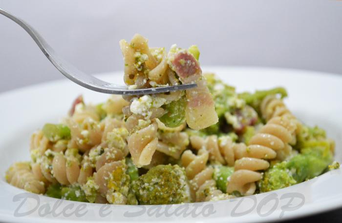 fusilli broccoli e pancetta
