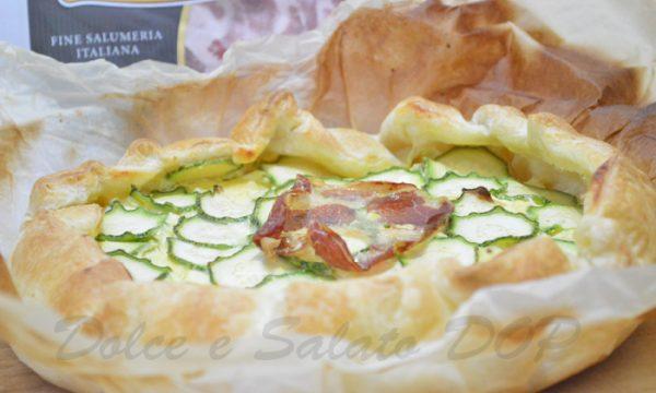 Quiche zucchine e coppa di Parma