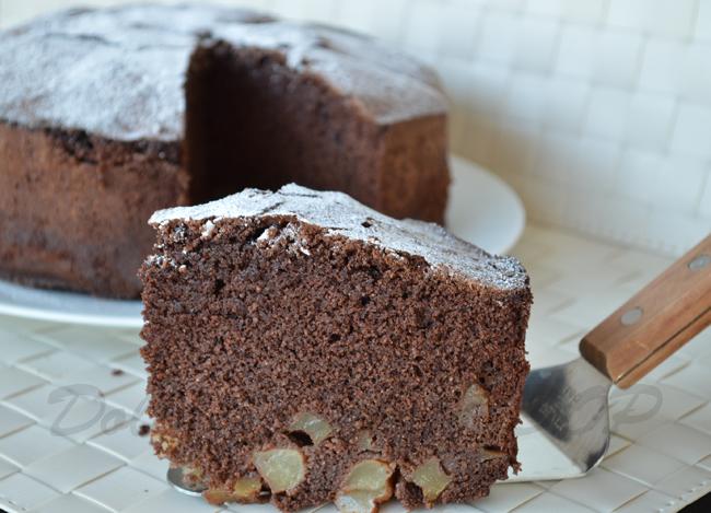 Torta pere e cioccolato, senza glutine e lattosio