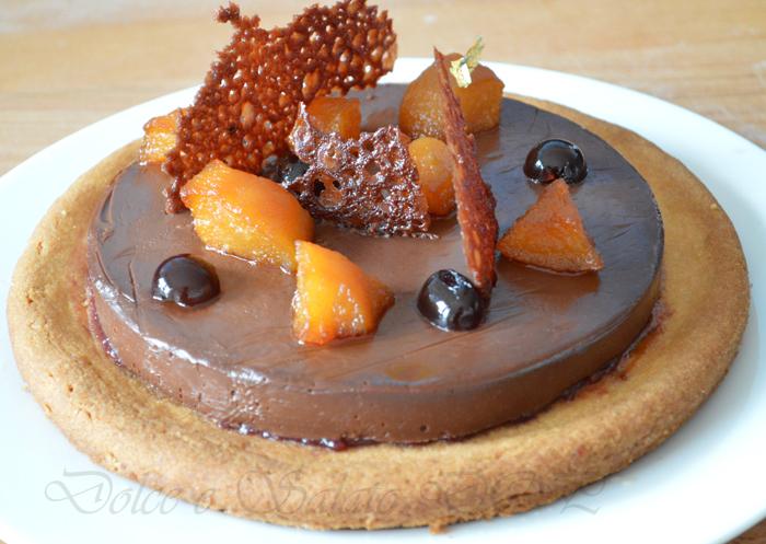 Crostata bretone cioccolato e pere