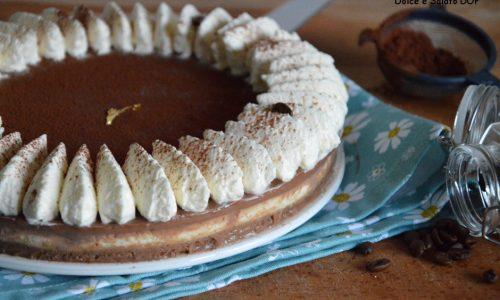 Cheesecake alla vaniglia e ganache al caffè