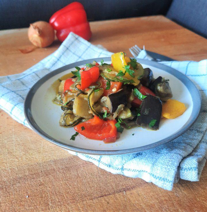 casseruola di verdure estive