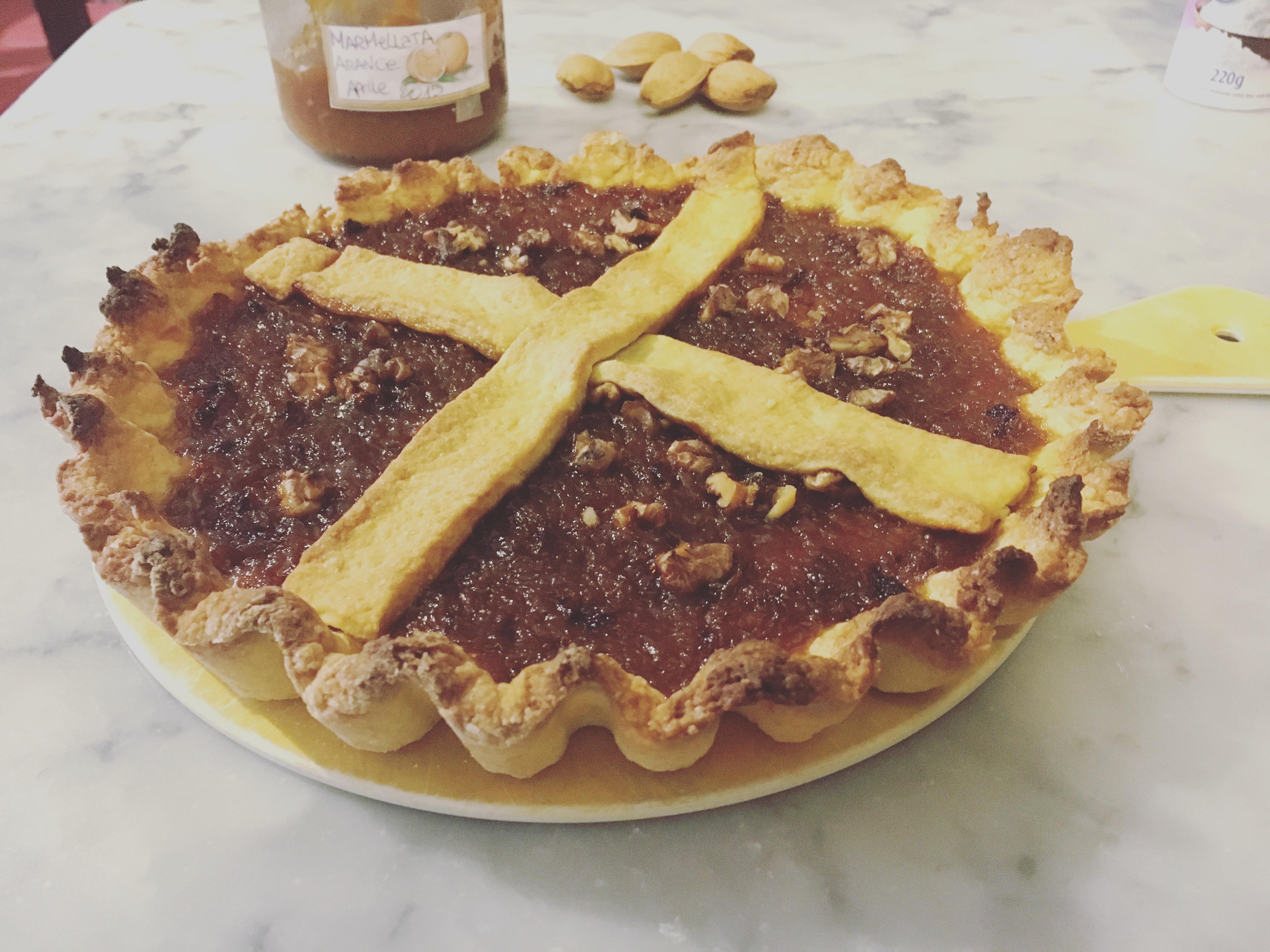 Crostata marmellata di arance e noci