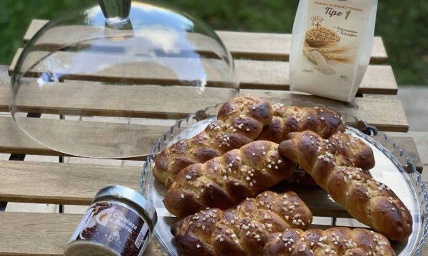 TRECCE DI PAN BRIOCHE AL CAFFE'