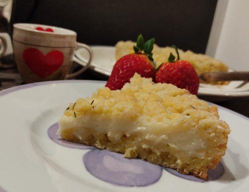 Torta morbida con crema di mascarpone, limone e cioccolato bianco