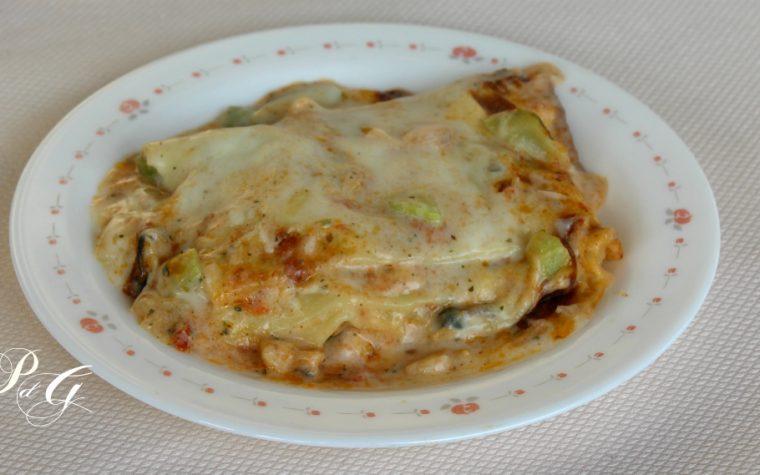 Lasagne gamberi e zucchine