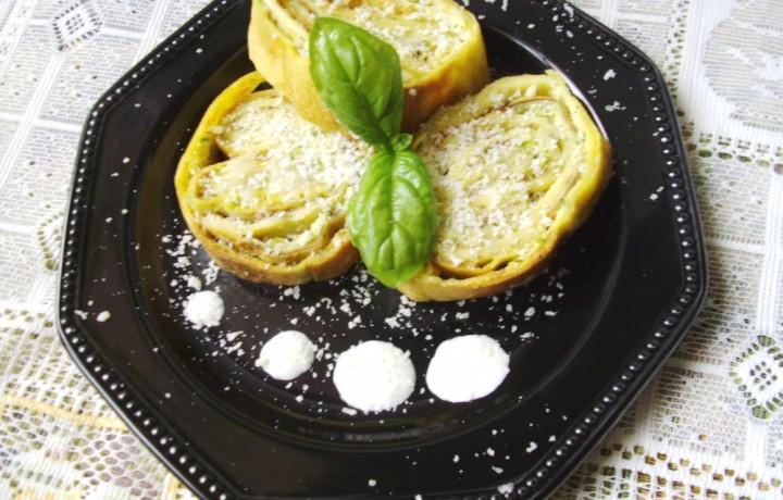 Crespelle di zucchine in crema di philadelphia