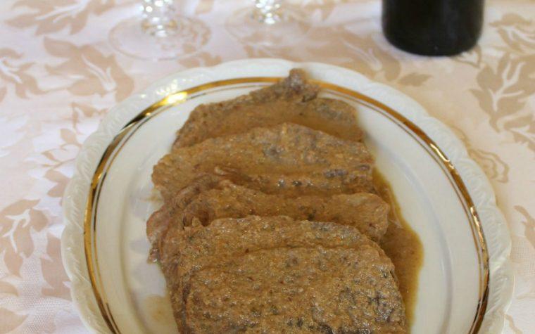 Codone di manzo porcinato - ricetta semplice