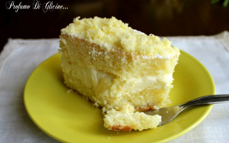 Torta al limone e ananas