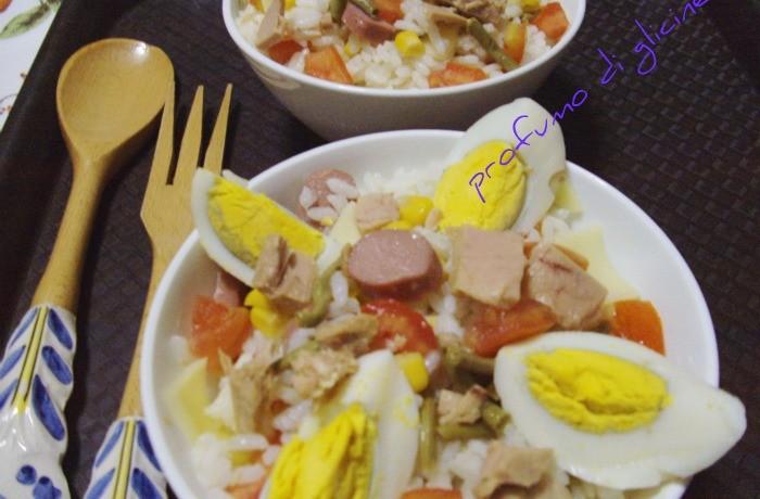 Insalata di riso veloce – ricetta fredda estiva