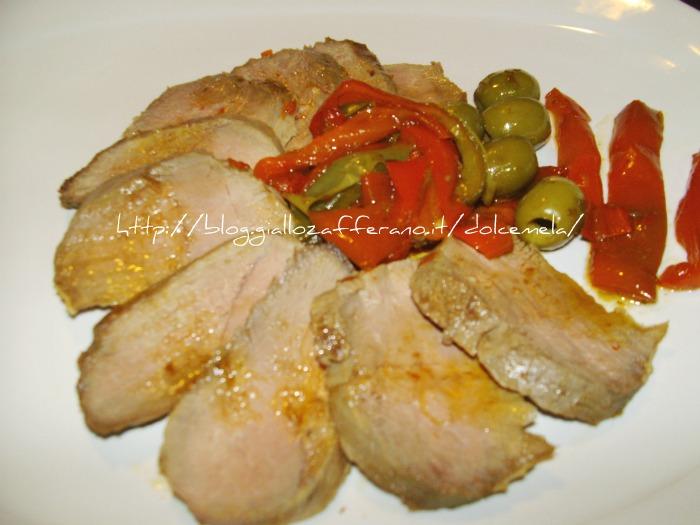 Anatra alle olive e peperoni