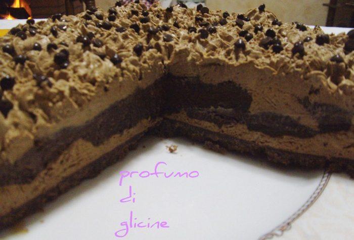 Cheesecake semifreddo al caffe e cioccolato