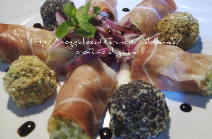 Involtini di crudo con ricotta e zucchine