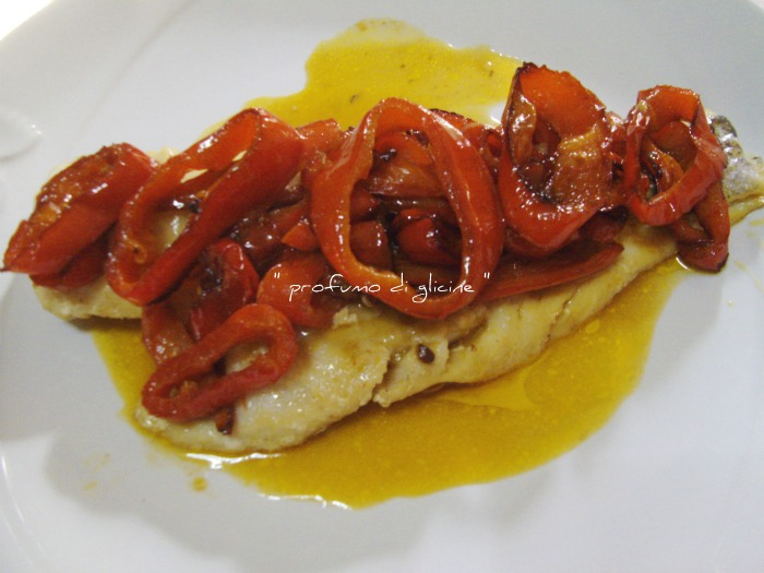 merluzzo ai peperoni - ricetta light