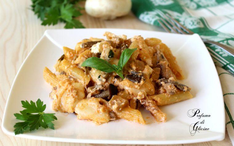 Pasta cremosa ai funghi – ricetta facile e veloce