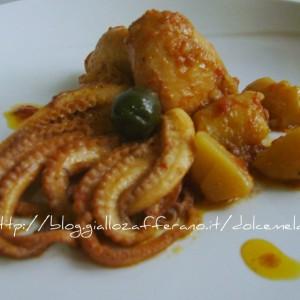 Moscardini in umido con patate e olive