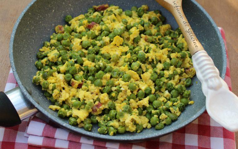 Piselli e uova – ricetta economica