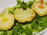 Cestini di pane in mousse di mortadella ai tre sapori. ricetta antipasti e sfizi da profumo di glicine