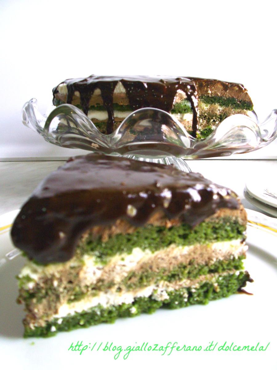 torta al te matcha con crema al burro e trionfo di cioccolato ricetta dolce da profumo di glicine