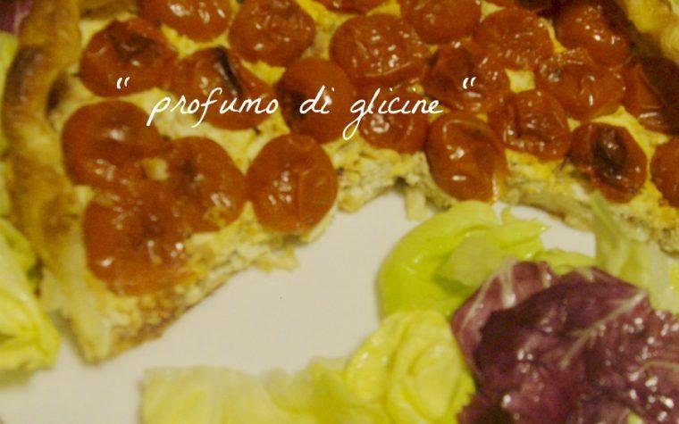 Crostata con pomodorini e tonno ricetta di mare