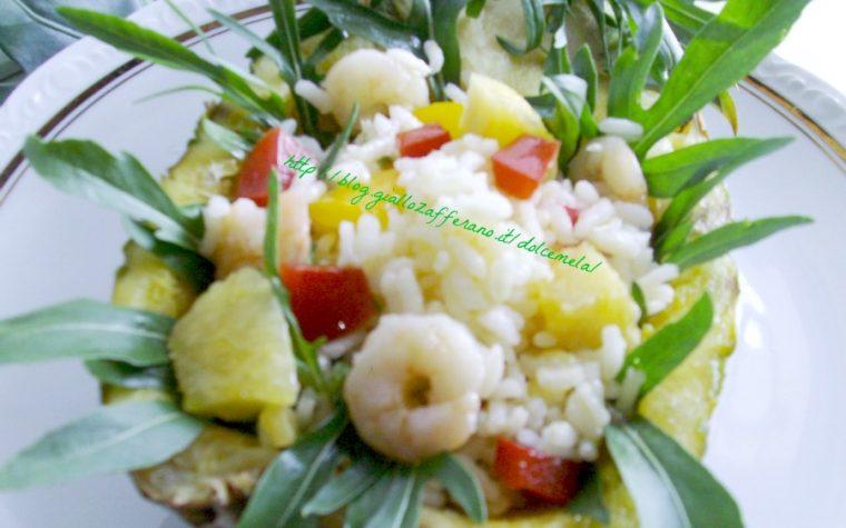 Insalata di riso con gamberi e ananas