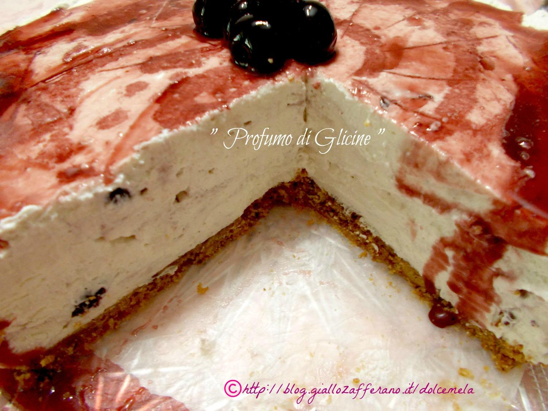 torta fredda variegata alle amarene