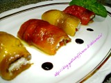 Involtini di peperoni al riso ricetta semplice nella cucina di profumo di glicine