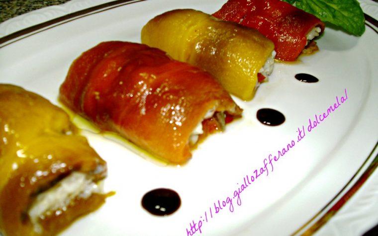 Involtini di peperoni a sorpresa – ricetta semplice fresca e appetitosa