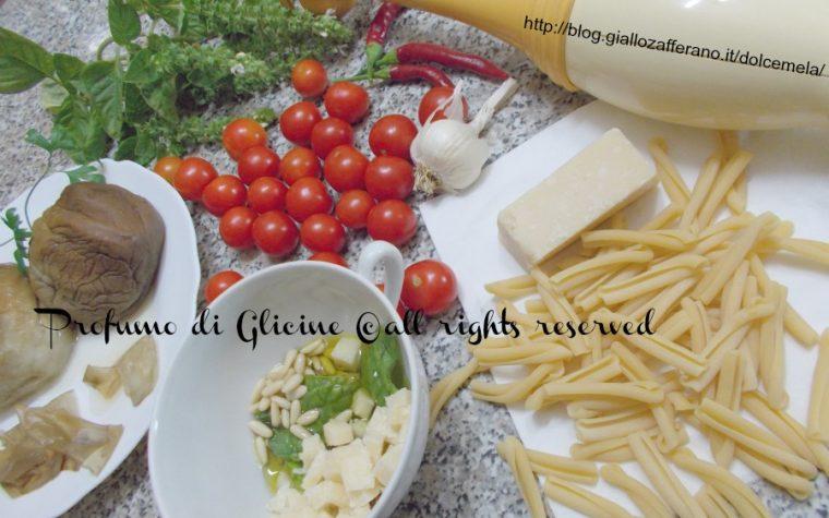 Caserecce siciliane al pesto di melanzane
