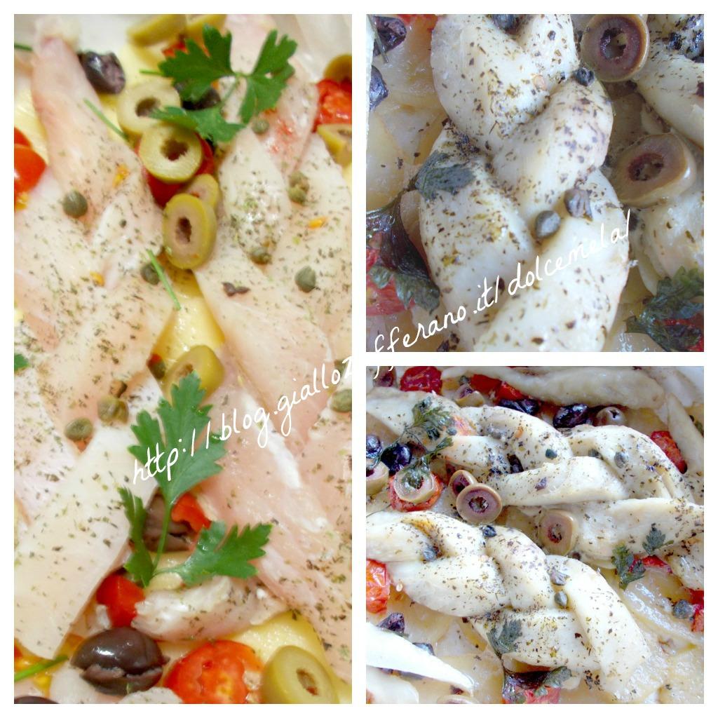 Treccia di persico ai profumi mediterranei ricetta light nella cucina di profumo di glicine