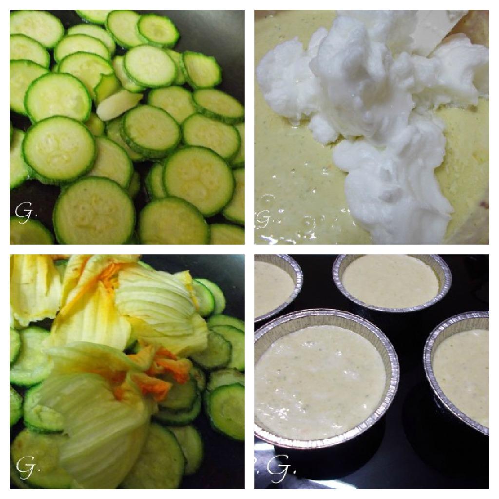 flan alle zucchine con fonduta di formaggio allo zafferano nella cucina di profumo di glicine