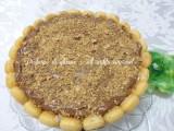 charlotte gelato con granella di nocciole e nutella