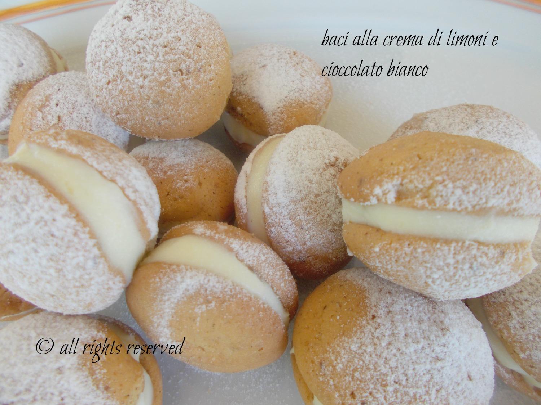 Baci alla crema al limone e cioccolato bianco ricetta di Salvatore De Riso nella cucina di profumo di glicine