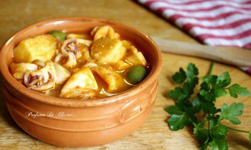 Calamari e patate in guazzetto - ricetta della nonna