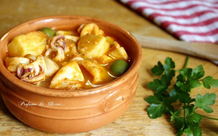 Calamari e patate in guazzetto – ricetta della nonna
