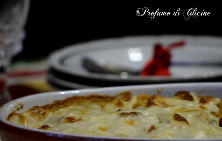 Chiocciole di pasta fresca in bianco – ricetta primi piatti al forno