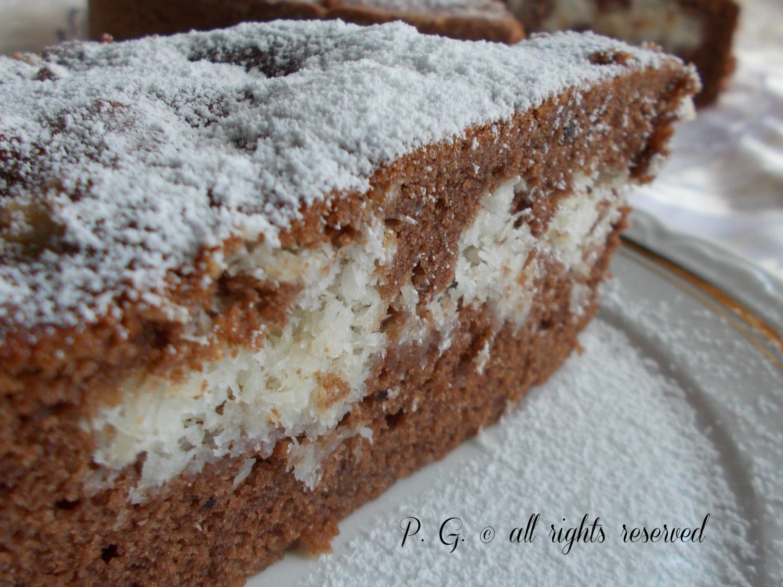 torta cacao e cocco ricetta dolce supergoloso nella cucina di profumo di glicine